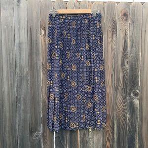 Vintage nautical midi skirt!